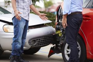 You should exchange driver's license information with the other driver after a traffic crash.